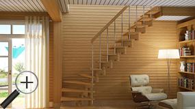 Лестница Profi&Hobby из лиственницы К-008м